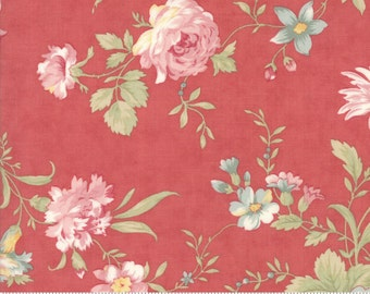 Poetry - Romantic  Blooms in Rose by 3 Sisters for Moda Fabrics