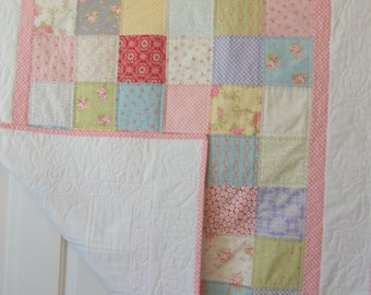 Baby Quilt, Floral with roses