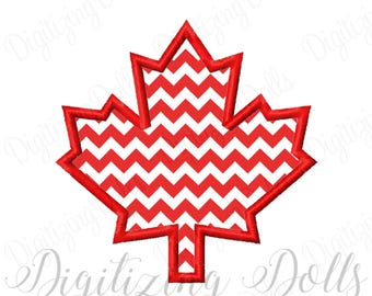 Maple Leaf Applique Machine Embroidery Design Digital File 4x4 5x5 6x6 8x8 Canada Fall Autumn INSTANT DOWNLOAD