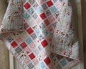 SALE*** Reduced to 39.00....Red Riding Hood...........A Fray Edge Quilt