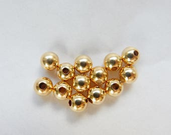 10pcs 5mm 14K Gold Filled round  spacer beads , Seamless  Gold filled bead