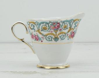Vintage Windsor Creamer Jug - Milk - Bone China - Gold - Floral - Rose - Flower - Afternoon Tea - Drink - Decor