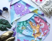 Care Bears Festival Outfit Matching Set halter crop top high waist racer shorts