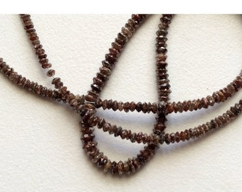 ON SALE 55% 10 Beads Brown Diamonds - Faceted Diamond Beads - Conflict Free Diamonds - Rough Diamonds Approx 3mm Each
