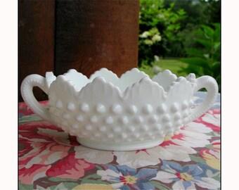 Fenton Milk Glass Candy Dish - Nut Dish - Candy Bar Buffet - Wedding Centerpiece