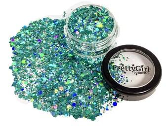 Teal Holographic Festival Glitter