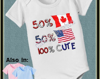 Baby short sleeve and long sleeve 50 Canada 50 USA 100 cute baby infant  Bodysuit baby bodysuit, baby shower gift