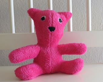 Soft and Fluffy Pink Magenta teddy bear stuffed animal