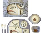 Children's 5 pc Dinner Set Bamboo Fibre Night Time Friends