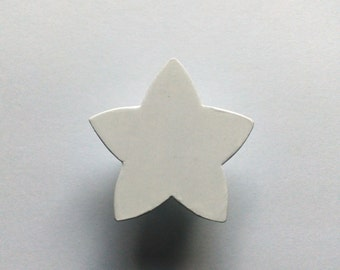 White Star Children's Wood Drawer Knob