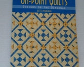 Quilting Book, On Point Quilts Designs on the Diagonal by Retta Warehime, Quilting Pattern Book, Quilting Patterns, Quiltsy Destash Party