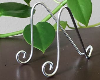 """5 pk Medium SILVER MINI Easel Holder for 6"""" x 4""""  WeddingTable Number Holders Photo Card Art Place Card Business Card Promotion Display"""