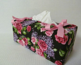 Tissue Box Cover/Rose And Lilac
