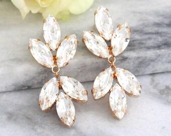 Bridal Crystal Chandelier,Long Bridal Earrings,Swarovski Crystyal Statement Earrings,Bridal Crystal Dangle Chandeliers,Bridal long Earrings