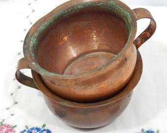 Antique 1800s,Rustic ,Primitive , Solid Copper Mugs, Copper Cups,Farm House , Rustic Kitchen