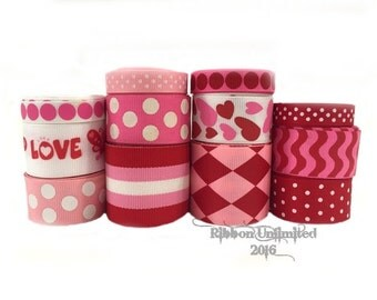 24 yds VALENTINE'S DAY  collection WHOLESALE  grosgrain ribbon Low Shipping Cost