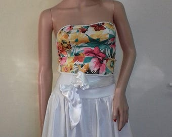 Elegant white lady's skirt