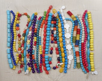 Wholesale Mixed Lot of Howlite & Magnasite Beads 26 (8 inch) Strands for Jewelry Making