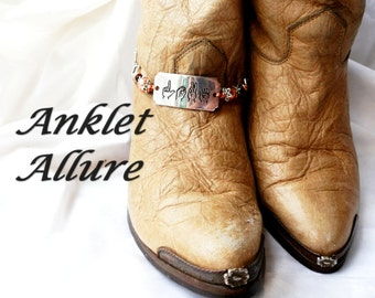 Hearing Impaired Jewelry ASL Boot Chains LOVE Boot Jewelry Boot Bracelets Foot Jewerly