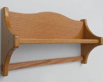 Quilt Hanger - Shelf - Oak