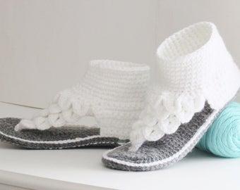 Crochet Slipper Pattern,Crochet Crocodile Stitch Sandals Pattern,Crochet Woman Slipper Pattern,Crochet Woman's Gladiator Pattern,Boho Dreamz