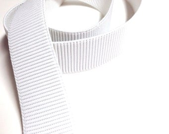 Wide White Elastic, Ribbed non-roll elastic, 1 1/2 inch wide Elastic, Sewing Supplies