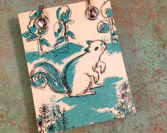 Recycled Notebook - Small Refillable Notepad - Upcycled Children's Book - Squirrel - Animal Note Book