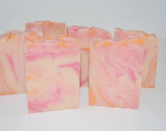 Wild Peach Poppies Handmade Cold process Soap