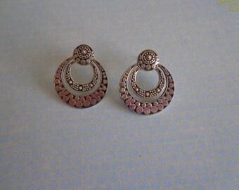 SALE - 925 Sterling Silver Pierced Post Earrings