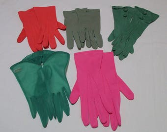 Choice of Vintage Gloves from 5 Shown; Spring Colors -  Sizes 6.5 and 7.5 - Lindfelt, Stetson VC6FN