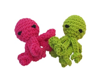 New Mini Rattle Octopus Cat Toys with Long Squiggly Arms - Choose Your Colors