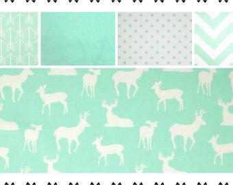 Crib Bedding, Baby Bedding, Toddler Bedding, Deer, Nursery Bedding Sets, Fitted Sheet, Crib Skirt, Crib Sheet, Bumper Pads, Premier Prints