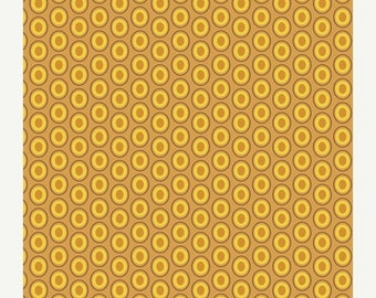 40% OFF SALE - Oval Elements in Mustard (OE-921) - Patricia Bravo for Art Gallery Fabrics - By the Yard