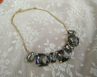 oshratDesignz gold &crystal  Necklace