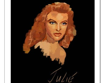 Julie London-Pop Art Print