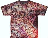 XL Shibori Men's T Shirt Tie Dye Earth Color Deluxe Extra Large