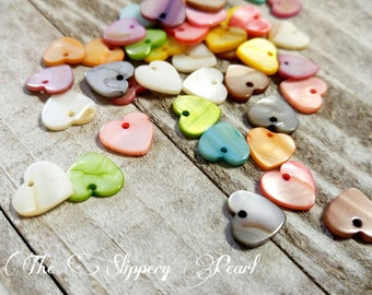Heart Charms Assorted Colors Valentines Day Charms Love Charms Shell Charms 13mm 10 pieces