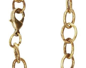 Charm Bracelet Brass Bracelet Gold Charm Bracelet Link Bracelet Solid Brass Bracelet Vintaj Bracelet 8 Inch Bracelet