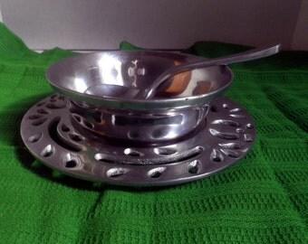 Sauce Serving Bowl Set, Alpaca Silver, 3 piece set