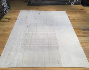 Large Minimal Flatweave Turkish Kilim 9.84' x 7.35'