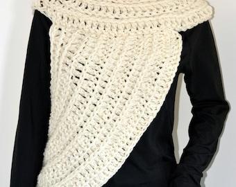 Katniss INSPIRED Cowl / shrug/ shrug / bolero/ shawl / half sweater / Grey Cowl /Red Katniss Inspired Cowl/ Ready to Ship- Small to Medium