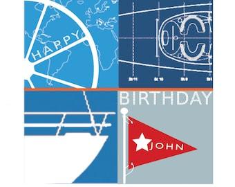 Sailors card Custom Yacht Birthday Card