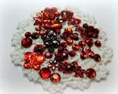 50 Flat Back Mixed Red Rhinestones Acrylic Gem for Scrapbooking Cards Mini Albums and Papercrafts Jewelry DIY