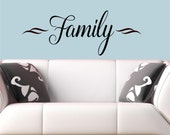 Family-  wall decal memories stickers home hallway Vinyl Lettering wall decals words graphics Home decor itswritteninvinyl