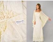 FEBRUARY SALE 70's ALFRED Shaheen Bohemian Wedding Dress
