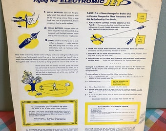 Flying the Electromic Jet cardboard Directions