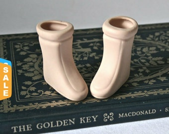 Closeout - Porcelain Winter Doll Boots for Doll Making or Repair