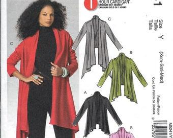 Sew & Make McCall's M5241 Sewing Pattern - Womens Flyaway Sweater Jackets Size XS, S, M