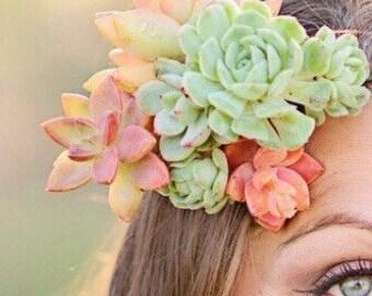 Succulent Comb, bride's comb, wedding comb, floral comb, bride maid comb, hair comb, customized for you!
