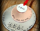 HUGE sale First married Christmas Ornament - Our first Christmas as Mr and Mrs Ornament - Our First Christmas - Ornament - Wedding Ornament